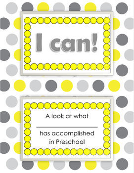 Preschool Data Notebook Cover