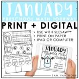 Preschool January Math Journal