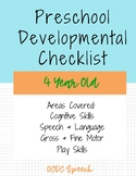Preschool Developmental Checklist-4yrs
