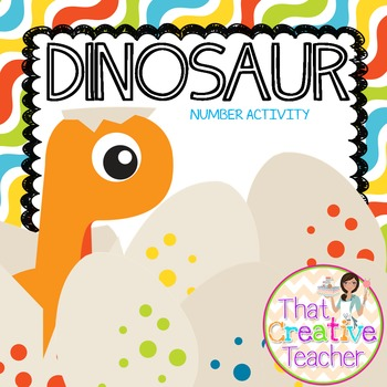 Preschool Dinosaur Math Activity