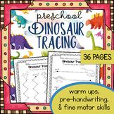 Preschool Dinosaur Tracing Worksheets - Dinosaurs - Fossils - Dinosaur Unit