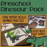 Preschool Dinosaurs, Fossils, and Paleontology Activities
