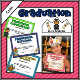 Preschool Diploma & Completion Certificates & Crowns Editable (Pre-K and K)