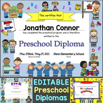 Diplomas, Certificates, Graduation Invitations Editable