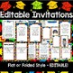 "Preschool Diplomas, Invitations, Program - ""How To"" Kit EDITABLE PDF"