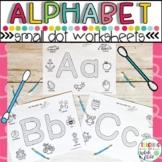 Preschool Alphabet Worksheets :  letter q-tip dot fine motor worksheets
