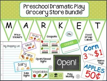 Preschool Dramatic Play Grocery Store Kit