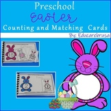 Preschool Easter Counting & Matching Cards, PreK, Special Education, Autism