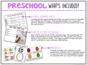 Preschool: Easter {Plans and Printables}