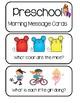Preschool Morning Message Cards - 250 Cards