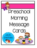Preschool Morning Message Cards - 250 Cards