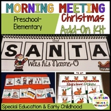 Preschool*Elementary Morning Meeting CHRISTMAS ADD-ON KIT (special ed.,autism)