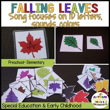 Fall Circle Activities for Special Education & Autism (Add-On Kit)