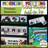Preschool*Elementary Morning Meeting Song-Rhyme ADD-ON KIT -Distance Learning