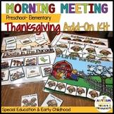 Preschool-Elementary Morning Meeting or Circle Thanksgiving ADD-ON KIT