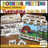 Preschool-Elementary Morning Meeting or Circle Thanksgivin
