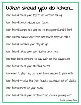 Preschool/Elementary Problem Solving Situations