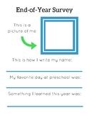 Preschool End-of-Year Questionnaire/Survey