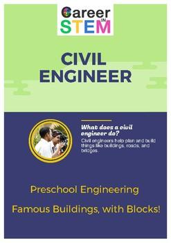Preschool Engineering - Famous Buildings, with Blocks!