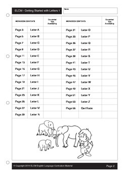 Preschool English Letter Search Activity Sheets (55 pages)