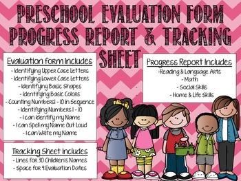 Preschool Evaluation Bundle
