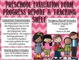 Preschool Evaluation Bundle