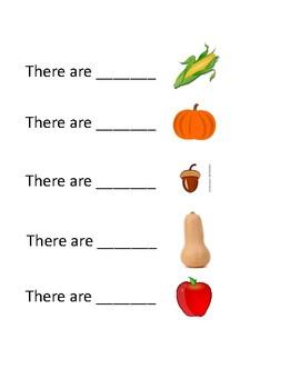 Preschool Fall Food I Spy