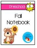 Preschool Fall Interactive Notebook