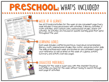 Preschool: Fall {Plans and Printables}