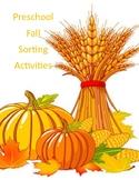 Preschool Fall Sorting Activities