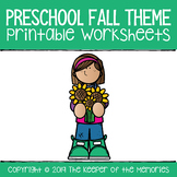 Preschool Fall Theme Growing Bundle PERFECT FOR DISTANCE LEARNING