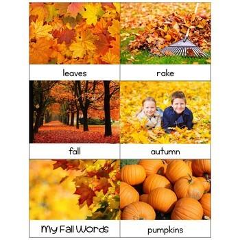 Preschool: Fall Theme Learning Pack