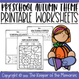 Preschool Fall Theme Printable Worksheets