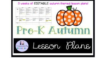 Preschool Fall Themed lesson plan