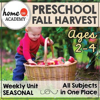 Fall Preschool Unit - Printables for Preschool, PreK, Homeschool Preschool
