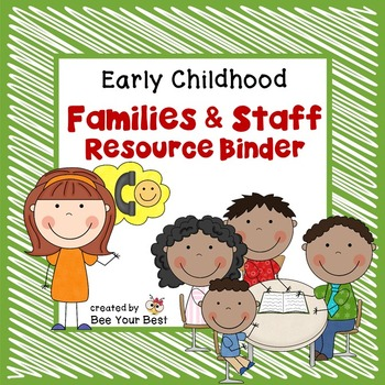 Preschool Organization-Families and Staff Resource Binder