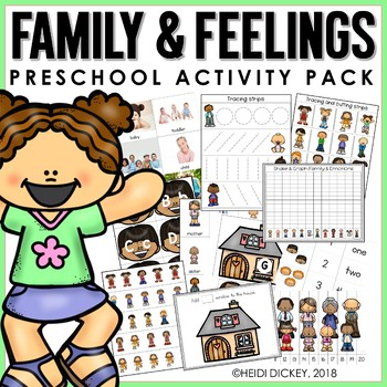Preschool: Family & Emotions Learning Pack