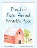 Preschool Farm Animal Pack