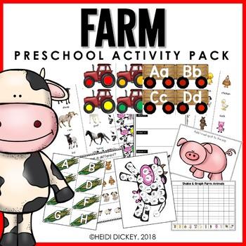 Preschool: Farm Learning Activity pack