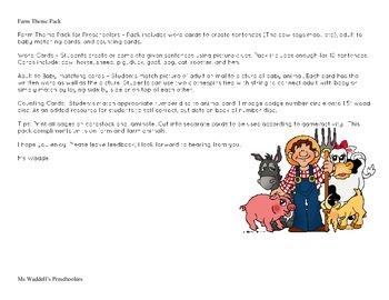 Preschool Farm Theme Pack