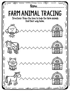 Preschool Farm Theme Printable Worksheets