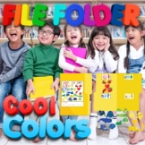 Preschool File Folder Activity, Cool Colors