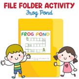 Preschool File Folder Activity, Frog Pond