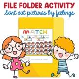 Preschool File Folder Activity, Match Faces according to Feelings