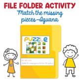 Preschool File Folder Activity, Match the Missing Pieces t