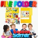 Preschool File Folder Activity, Season Sorter