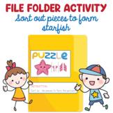 Preschool File Folder Activity, Sort Out Starfish Pieces