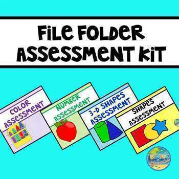Preschool File Folder Assessment Bundle