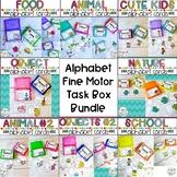 Preschool Fine Motor Activities: Alphabet Task Boxes