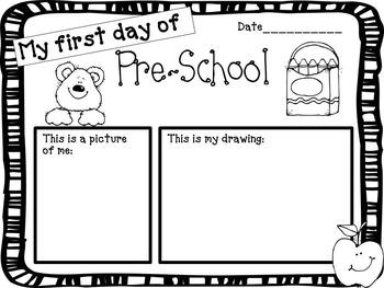 Preschool First Day of School Poster_FREE